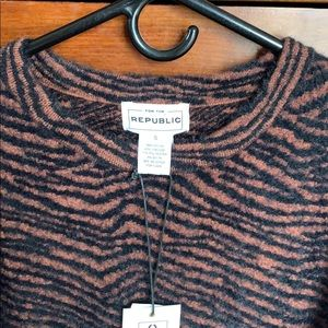 For the Republic animal print sweater - size S.